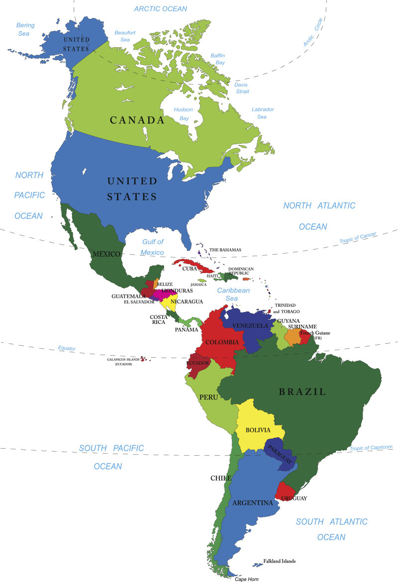 Maps Of North America And North American Countries Political - Map of usa with capitals